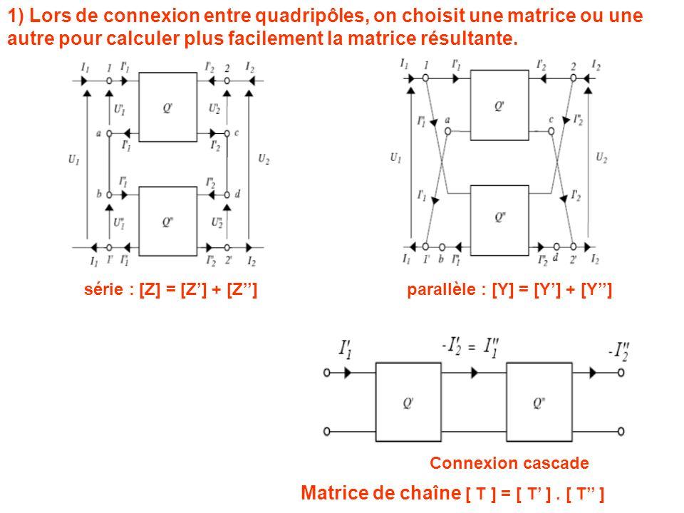 Matrice de chaîne [ T ] = [ T' ] . [ T'' ]